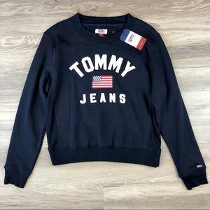 Tommy Jeans Logo Navy Blue Sweatshirt